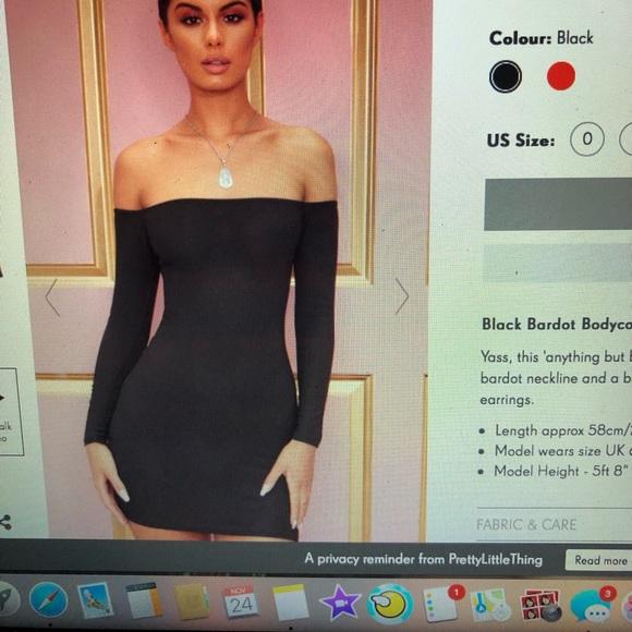 d551d2f72 PrettyLittleThing Dresses | Pretty Little Thing Bodycon Black Dress ...